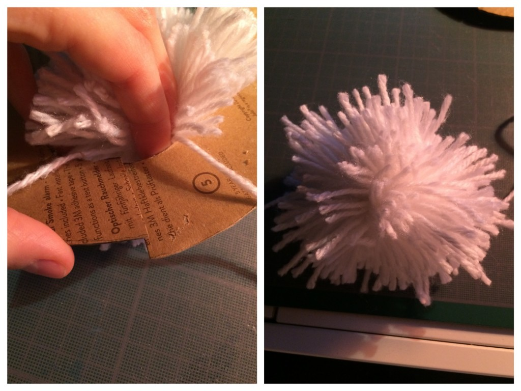 Tuto DIY Pompons en laine avec disque de carton