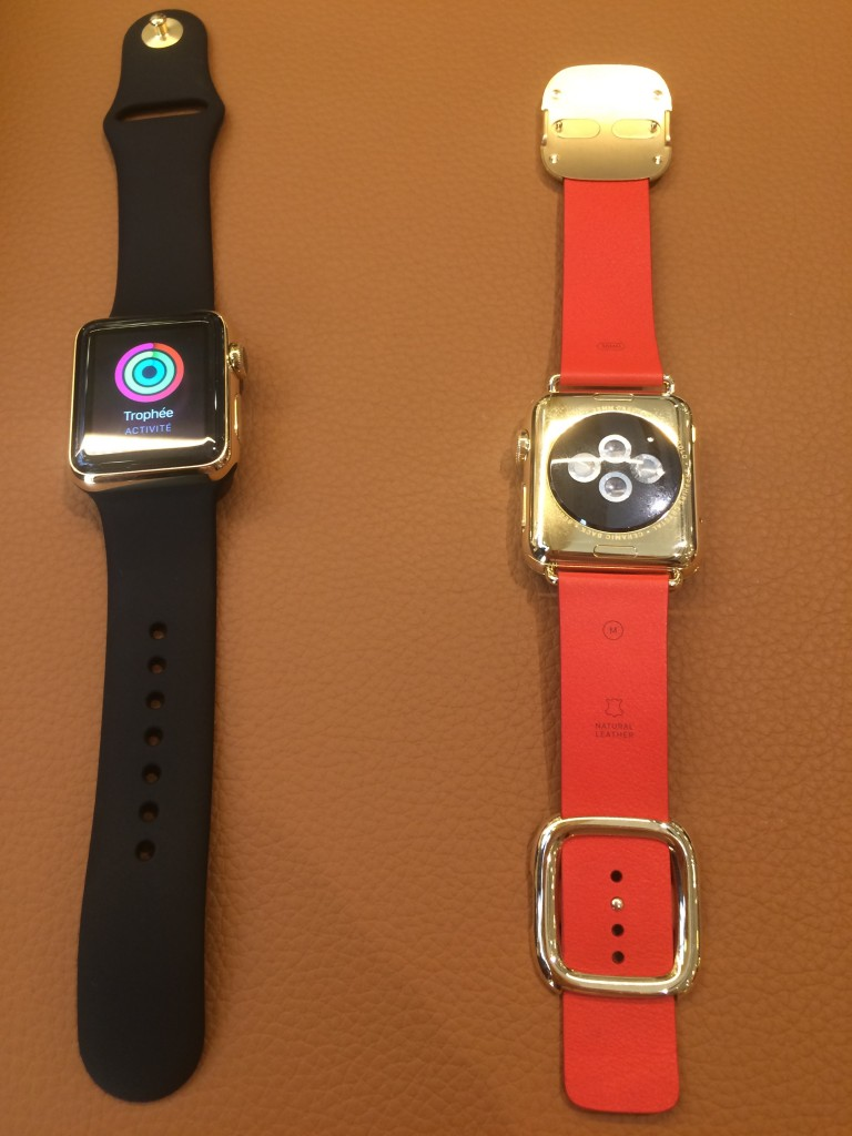Apple Watch or 18 carats orange rouge boucle moderne. Apple watch sport. https://youtu.be/XWP3VirW304