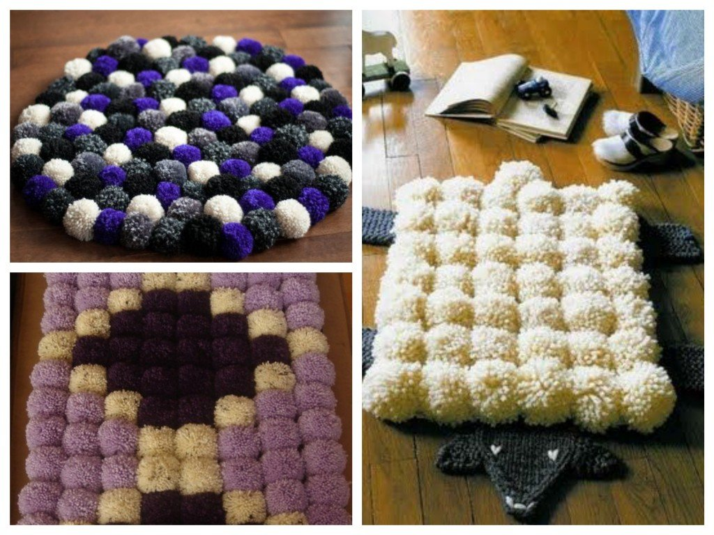 Diy tuto tapis de pompons en laine blog d co clem around the corner - Modele de pompon en laine ...