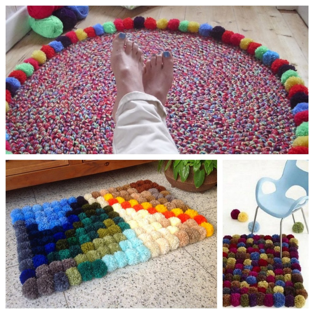 Super DIY - Tuto tapis de pompons en laine - Blog déco Clem Around The  HC41
