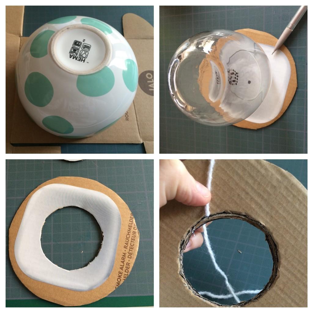 Tuto DIY Pompons avec disque de carton