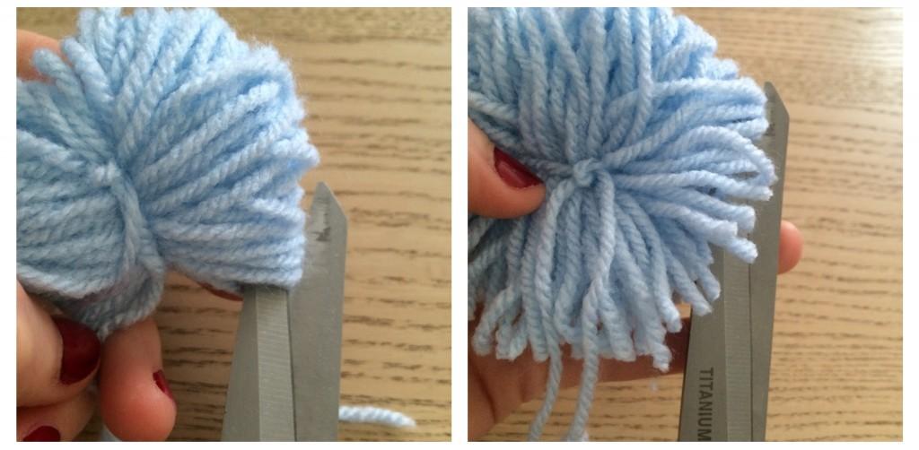 faire des pompons en laine facilement. www.clemaroundthecorner.com