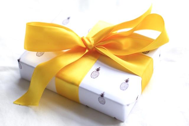 DIY papier cadeau ananas jaune