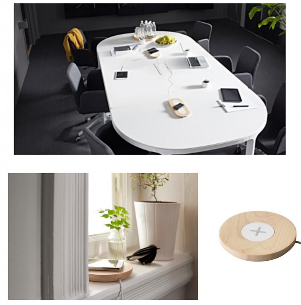 Chargeur intégré d'IKEA. NORDMÄRKE Station de charge simple sans fil, bouleau. IKEA meubles avec chargeur intégré station home smart. www.clemaroundthecorner.com
