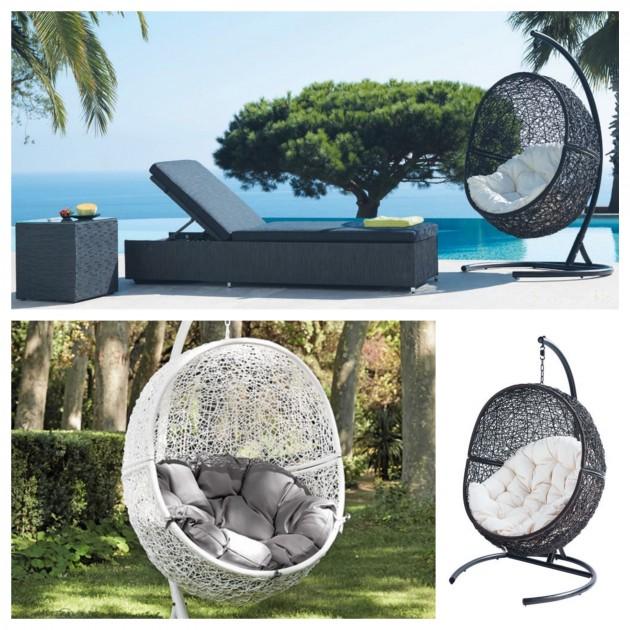 Cocoon by Maisons du monde - 349,90€. Collection outdoor maison du monde. Fauteuil nid extérieur piscine déco.