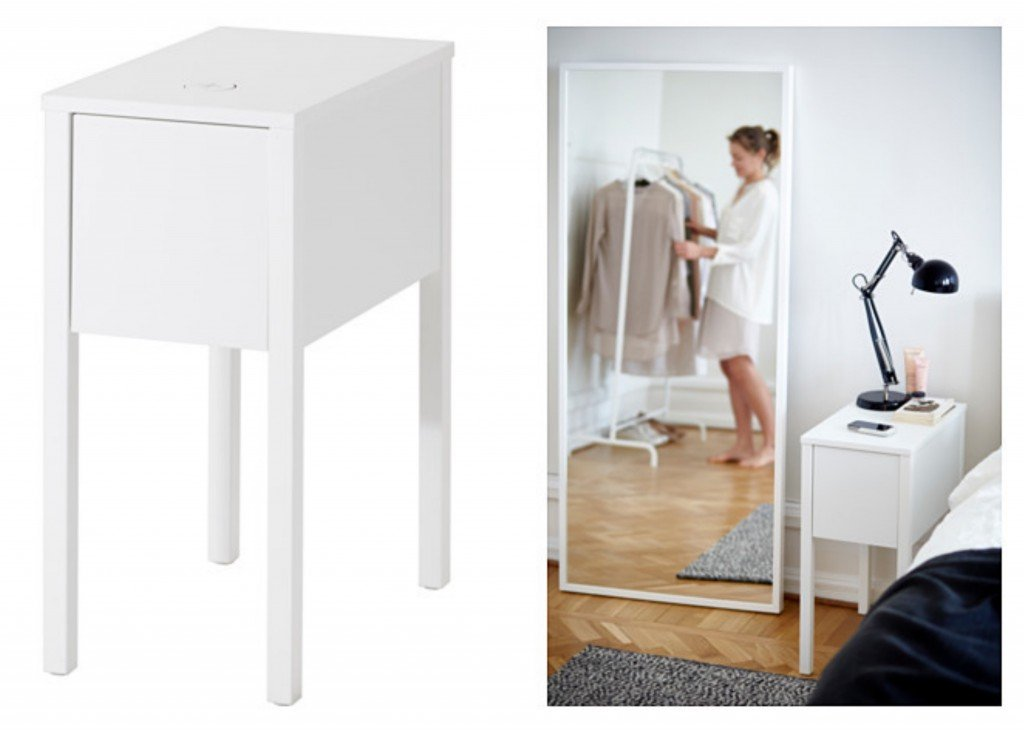 wireless Chargeur intégré d'IKEA station home smart. www.clemaroundthecorner.com