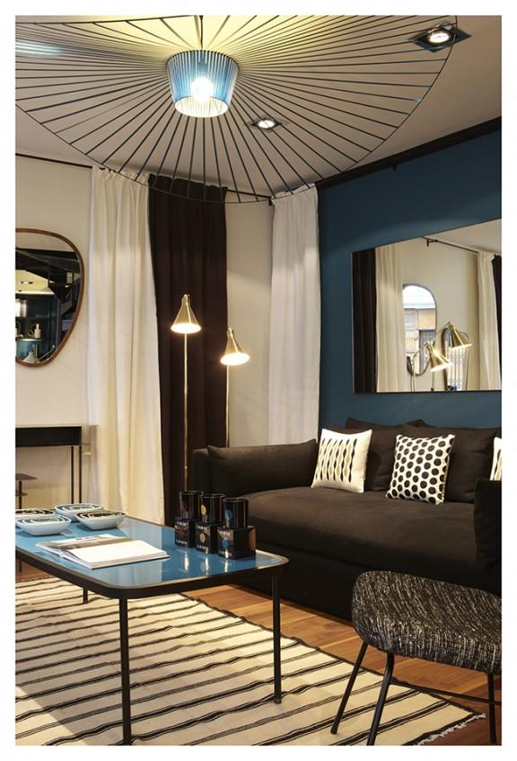 Sarah Lavoine bleu canard architecture d'intérieur