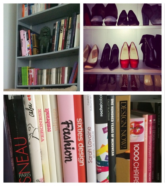 Billy bibliothèque et placard à chaussures.