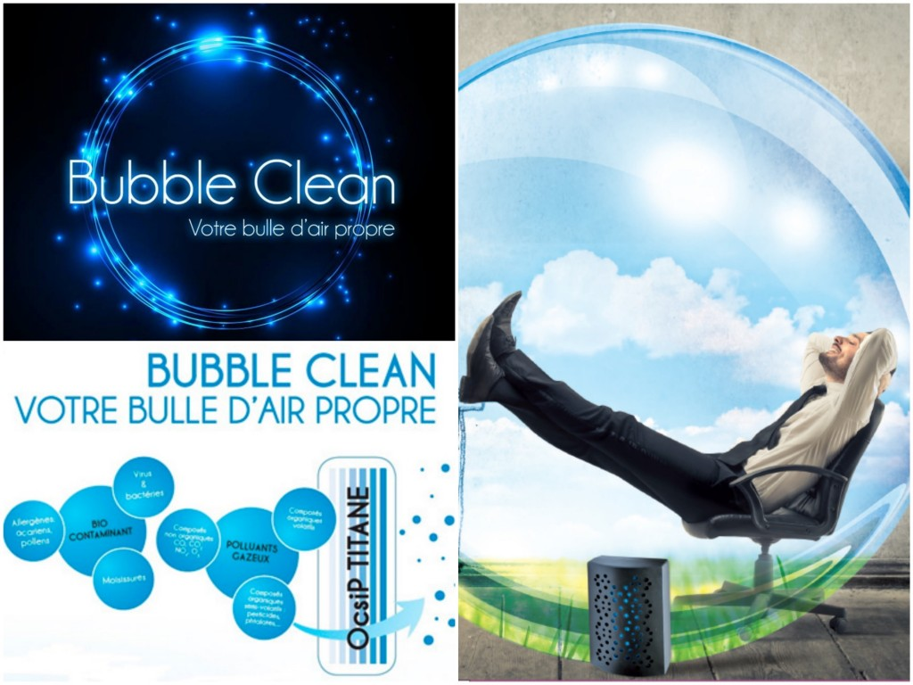 Bubble clean bulle d'air propre. Purificateur d'air made in France