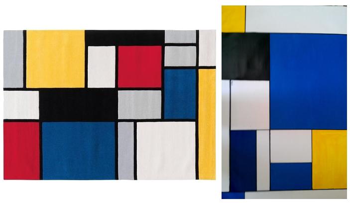 Coloured Cubes by Arte Espina. Tapis de Style Mondrian en moins, pas cher.