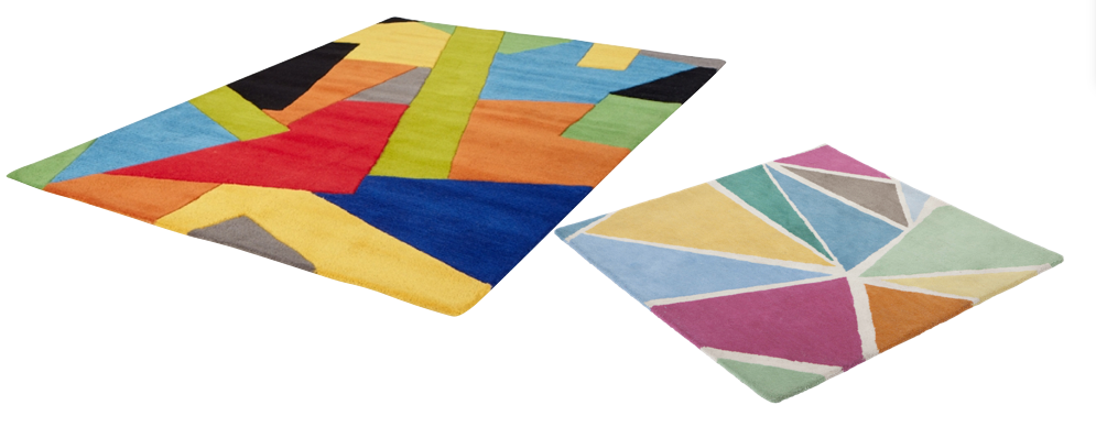 Tapis moins cher made for design origami cubisme.