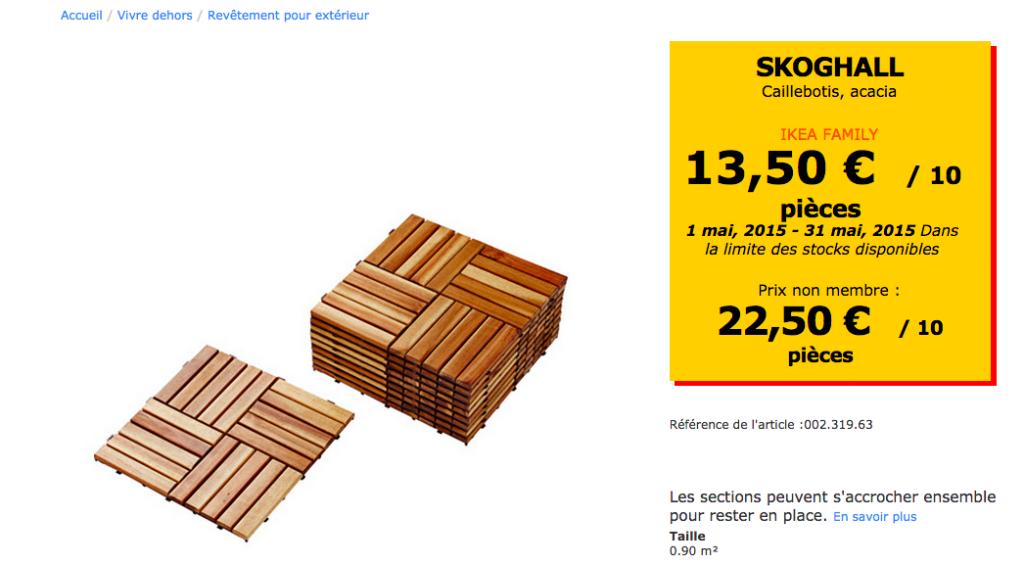 salle de bain IKEA Hacks. SKOGHALL by IKEA, caillebotis pour l'extérieur.
