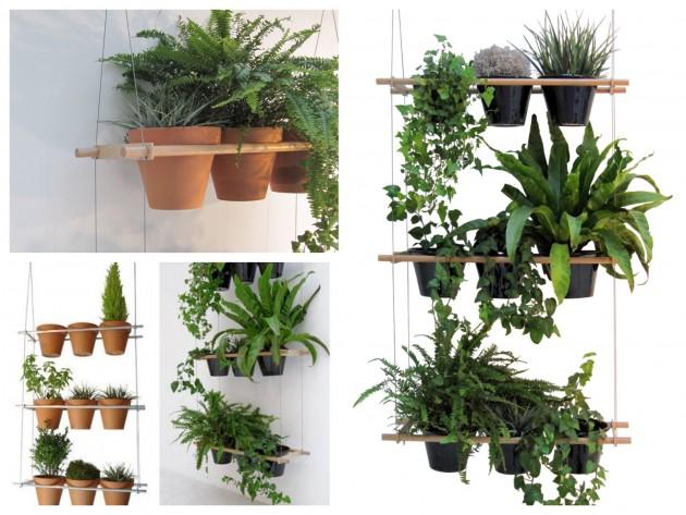 Jardinière Etcetera cloison végétale en bois métal à faire soi-même séparation original pièce