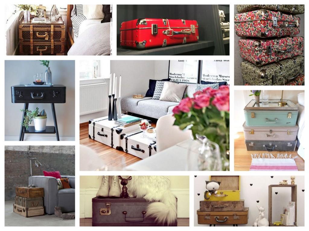 Les valises dans la déco, rangement décoration. www.clemaroundthecorner.com