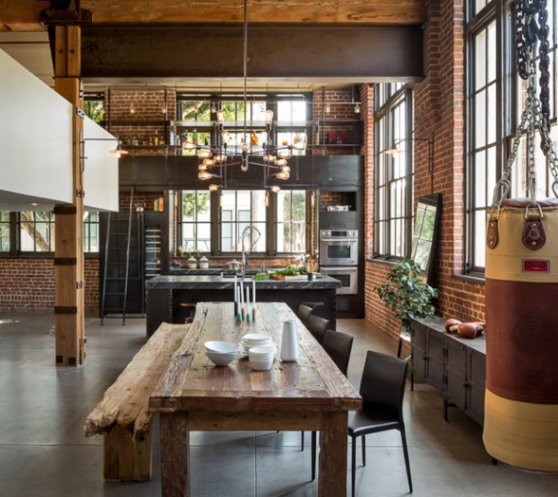 Cuisine indus style industriel san francisco blog d co - Table cuisine style industriel ...