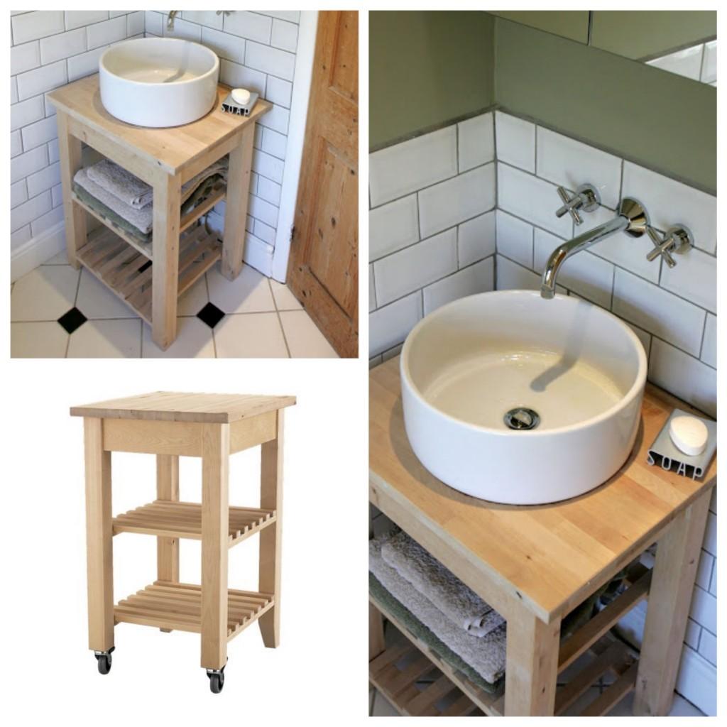 Meuble Cuisine Desserte Ikea une salle de bain ikea hacks ! - clem around the corner