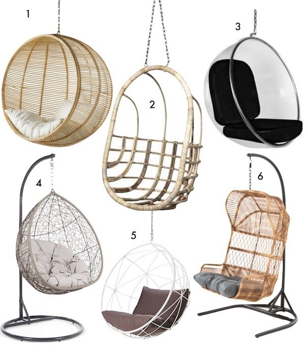 fauteuils suspendus idee decoration blog deco design maison amenagement gain de place shopping list