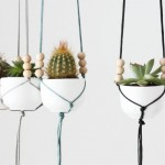 mini jardinières suspendues pour cactus et plantes succulentes. www.clemaroundthecorner.com