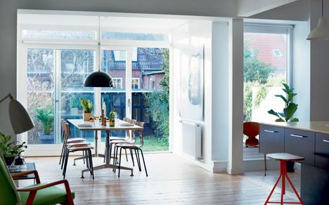 Ulrik Foss salon véranda maison danemark cuisine ouverte