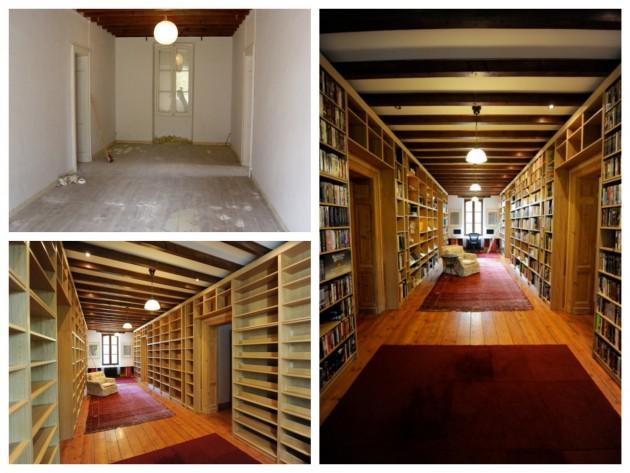 IKEA hack bidouilles Billy créer une salle bibliothèque das sa maison