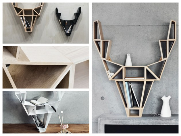 Etagere Tête de cerf Bedesign - blog déco - clem around the corner