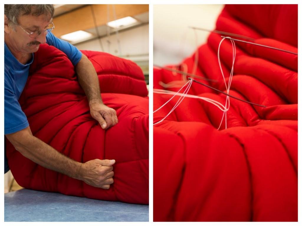 Confection fabrication d'un canapé togo ligne roset
