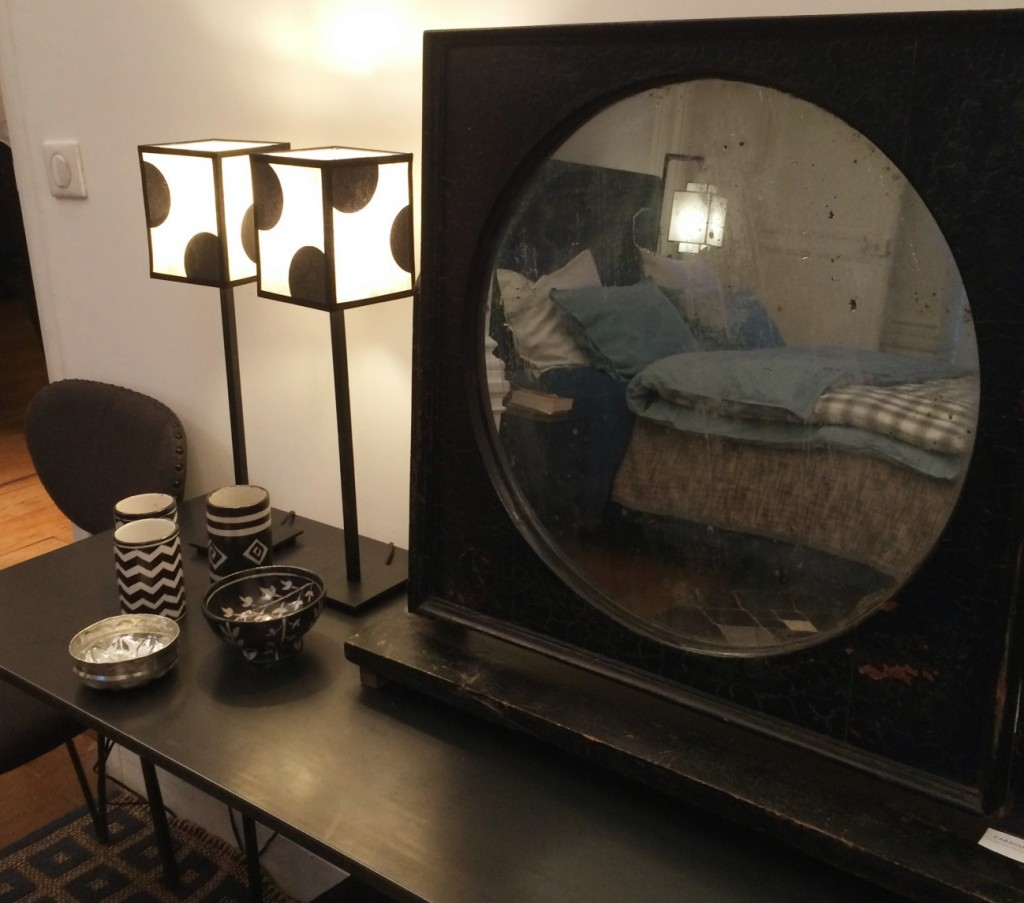 Miroir vintage chambre parentale