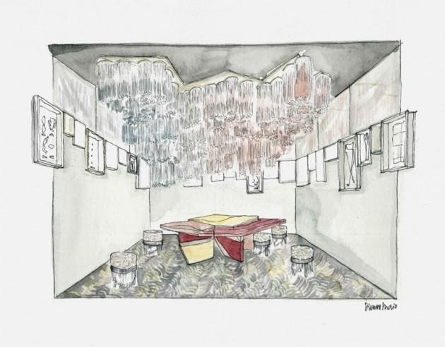 La salle à manger, miroir du temps de Dimore Studio. Un lieu qui montre que le futur se construit en regardant le passé.