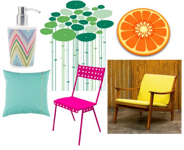 Soldes d'été 2015 un meuble coloré acidulé.