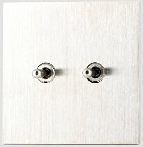 interrupteur levier double acier