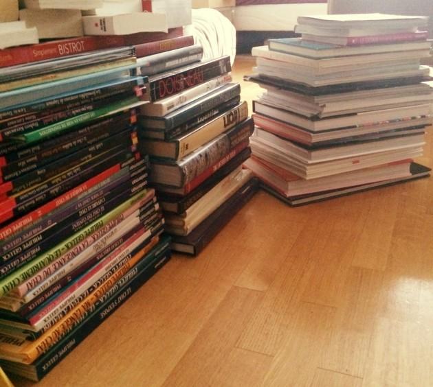 livres au sol
