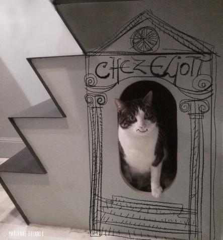 niche cachette chat deco escalier