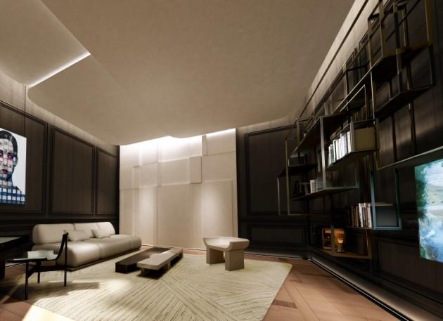 Le salon d'étude des frères Bismut. Un espace multifonctions pour répondre aux intérieurs de plus en plus petits.