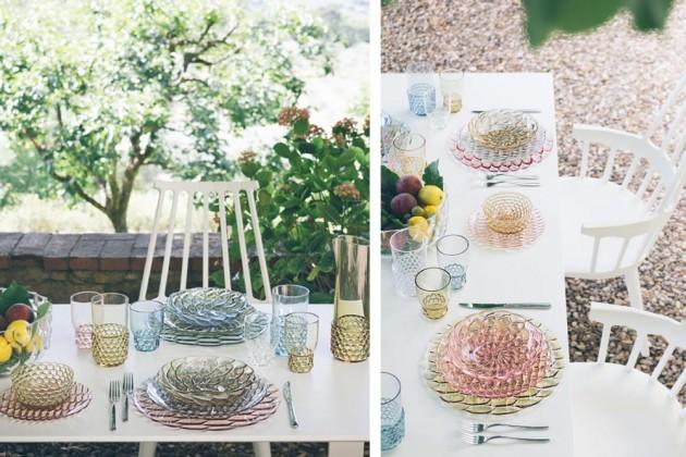 JELLIES FAMILY BY P. URQUIOLA Pour Kartell vaisselles pique-nique chic plastique.