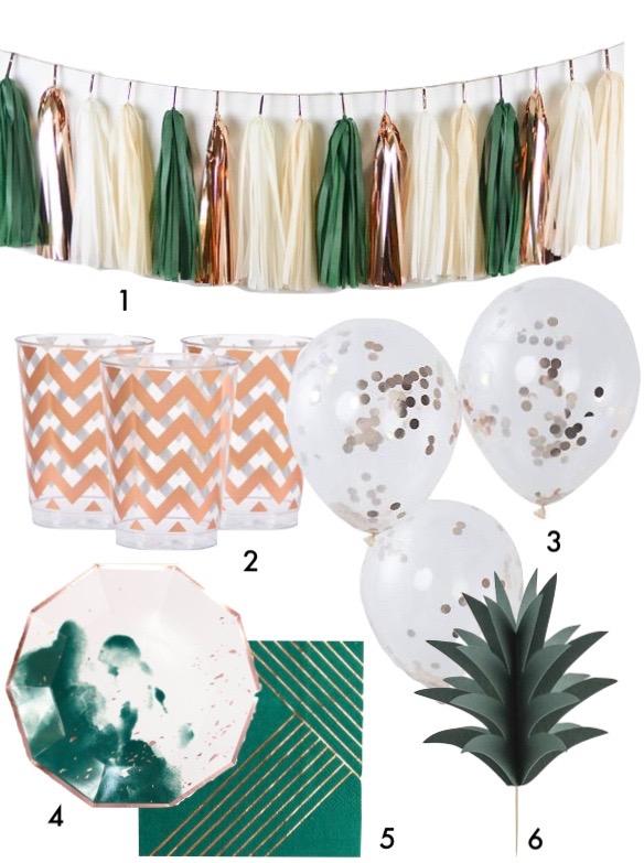 pique nique jungle décoration mariage tropical blog déco clem around the corner