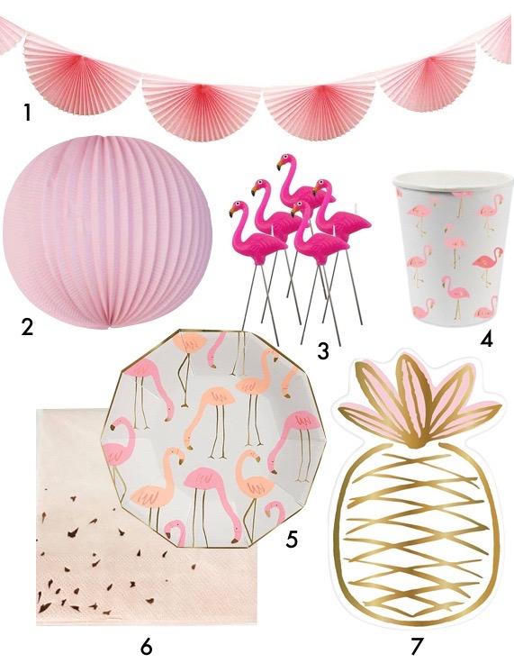 pique nique jungle décoration mariage tropical rose blog déco clemaroundthecorner