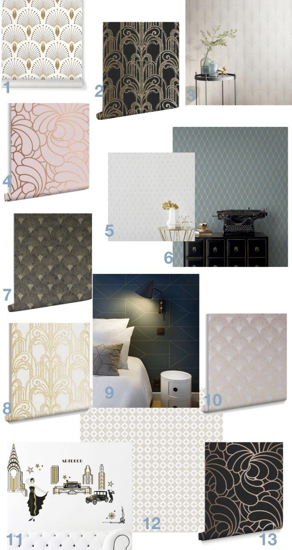 papier peint art deco blog design clem around the corner