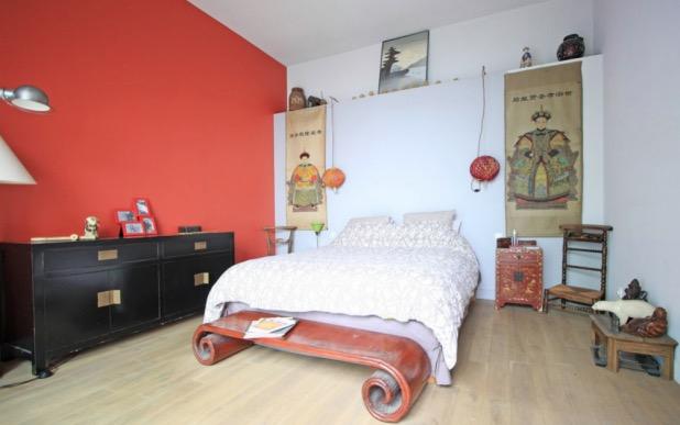 maison loft style indus industriel paris chambre.