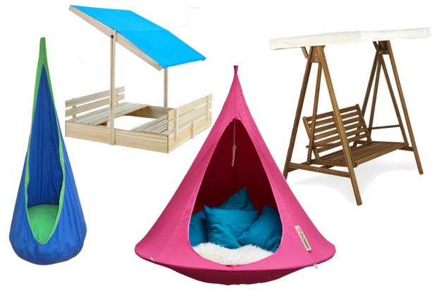 Tente balancelle ombre meuble exterieur enfant sieste.