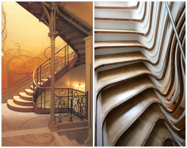 Escalier art nouveau art deco.