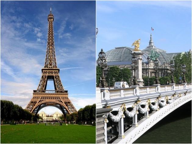 Art nouveau tour eiffel pont alexandre iii 3 paris.