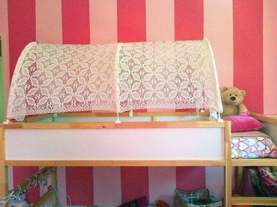 tente pour lit IKEA Hack lit Kura.