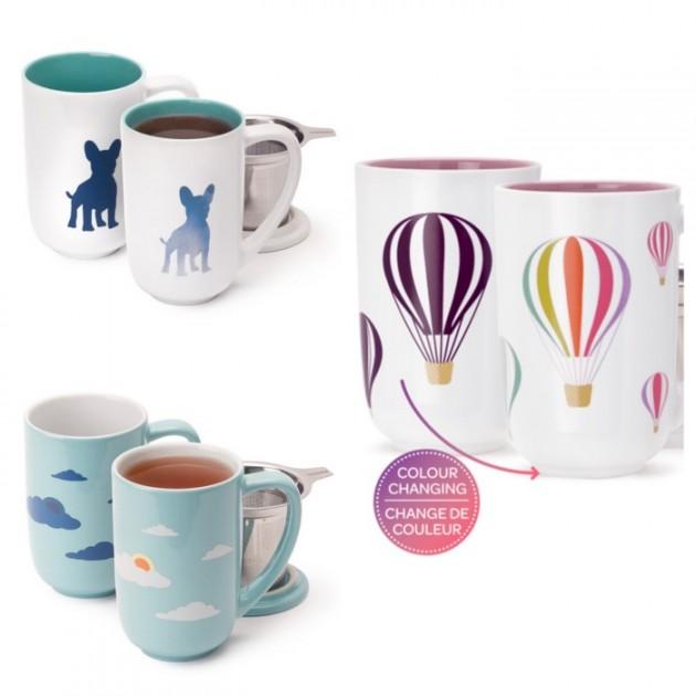 Tasse mug qui change de couleur avec la chaleur thermosensible.