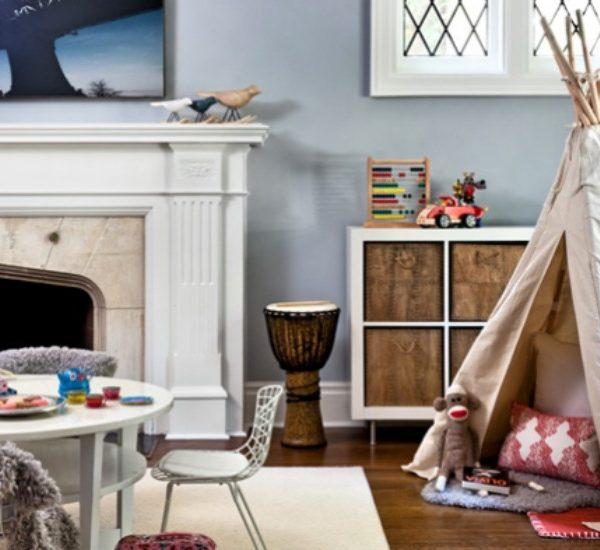 tipi pour une chambre d'enfant décoration cabane deco teepee kid.