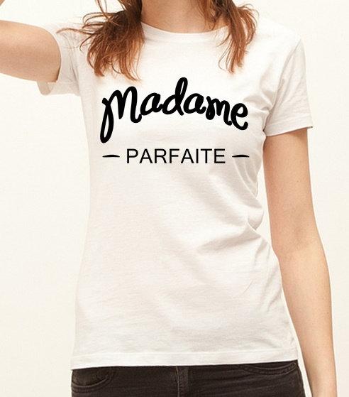 Etsy mariage tee-shirt call me madame