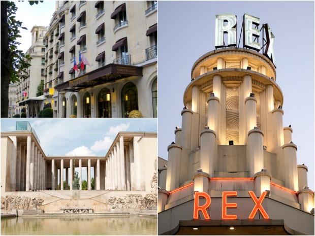 Art deco a paris palais de tokyo grand rex hotel prince de galles.