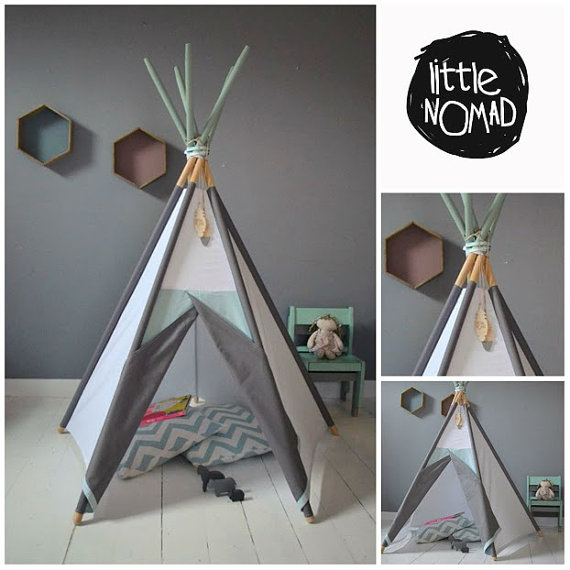 un tipi pour une chambre d 39 enfant inspiration d co. Black Bedroom Furniture Sets. Home Design Ideas