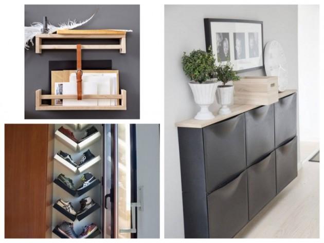 Comment aménager une petite entrée IKEA hack meuble.