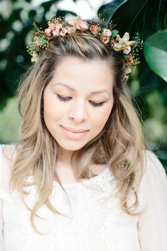 Etsy déco Mariage fleur couronne mariee