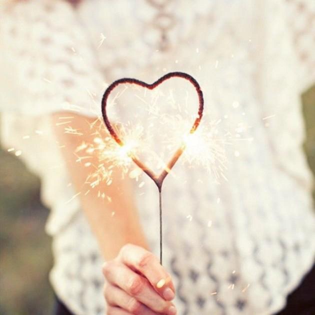 Etsy déco mariage bougie coeur cierge magique étincelle.